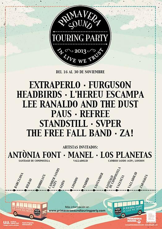 Primavera Sound Touring Party, talento múltiple de gira en noviembre