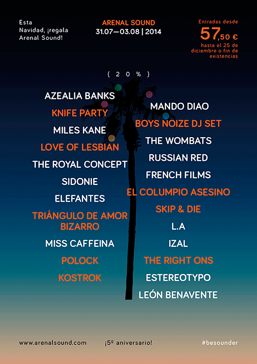 Love Of Lesbian, The Right Ons y El Columpio Asesino se suman al Arenal Sound